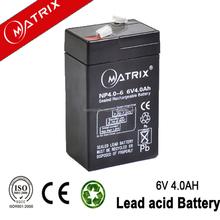 Hot Salling Emergency Light Battery 6 Volt 4amp
