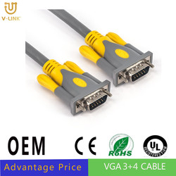 HD 9 pin VGA Cable M to M Super VGA Cable 30m