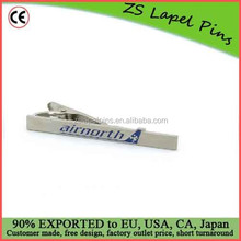 Free artwork custom quality Misty nickel plated and enamel filled tie bar