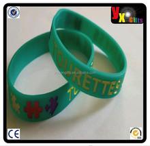 Tourettes awareness wristband bracelet/yiwu cake decoration supplies