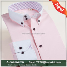 Top quality!!!Brand name fancy men casual shirt/office clothing for worker/cheap price polyester/cotton male shirts