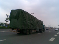 Flatbed green poly waterproof wedding and christening tarpaulin for dump truck