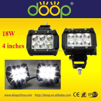 2015 New ATV Accessories 9-32V 18W 1600LM Mini Dual Row LED Off Road Light Bars with CE ROHS IP67