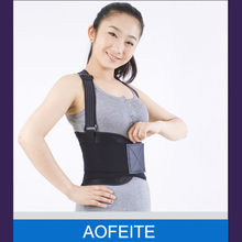 Alibaba China professional wide neoprene fitness slimmer belt/lumbar back brace with double pull