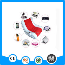 Newest music plastic child inflatable chair sofa