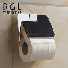 2015news Zinc alloy for bathroom Wall mounted Chrome finishing with lid paper roll holder