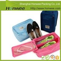 small zipper nylon mesh shoe bags for travel