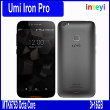 Original Umi IRON Pro LTE 4G Mobile Phone 5.5 Inch MT6753 Octa Core 3GB RAM 16GB ROM 1920X1080 13.0MP Android 5.1 Fingerprint ID