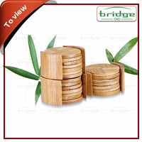 Round bamboo table coaster, bamboo cup holder mat