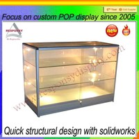 Large Size Three Tiers Acrylic Free Standing Display Shelf With Lights