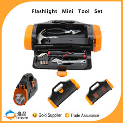 2015 China Professional Cheap 14pcs Emergency Tool Kit With Flashlight