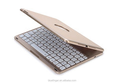 Automatic backlit Bluetooth keyboard for ipad air2,with 7 backlit colors,aluminum alloy