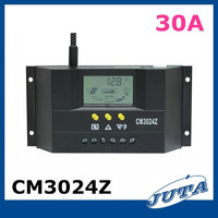 Pwm solar charge controller 30a 12v/solar regulator 30a 24v/solar panel controller with CE ROHS solar power controller