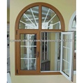 buena calidad nuevo diseño de ventanas abatible de PVC con arco