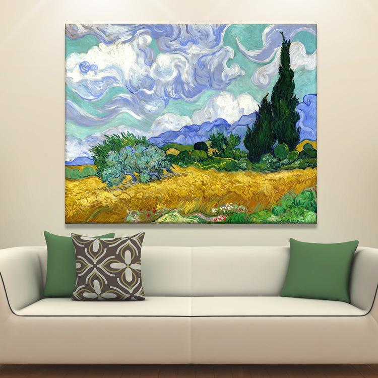 Abstract olieverfschilderij op canvas voor de woonkamer wanddecoratie schilderen kalligrafie - Idee schilderij living ...