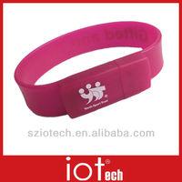 Outdoor Marketing Purple Band USB Flash Pen Drive
