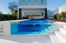 Safety 12mm frameless tempered glass swimming pool fence,