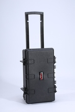 2015 hot sale aluminum customized trolley case, tool suitcase with tool plate and safe locks