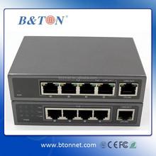OEM Gigabit Ethernet POE Switch 5 port 10/00/1000M with Power Supply