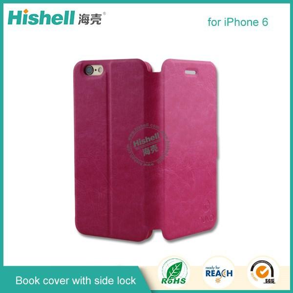 2015 caliente de la PU de la cubierta del libro con imán accesorio del teléfono para el iphone 6