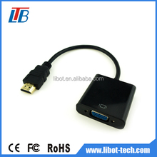 OEM 1080P resolution hdmi to vga adapter converter cable connector for PC DVD HDTV projector