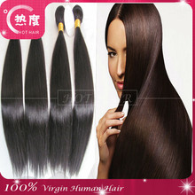 2015 top Quality Hot sale can be iron and dyed wholesale price hot hair virgin silk straight brazilian human hair