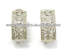 traditional zircon earrings