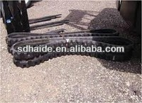 excavators rubber tracks, small cheap robot rubber tracks for kubota,bobcat,doosan,volvo,kobelco