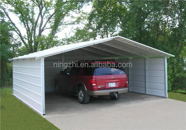 Estructura de metal coche refugio 6x9x4 2 m cobertizo for Garaje metalico prefabricado