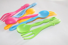 high quality home use and travel plastic spoon,fork,fruit fork
