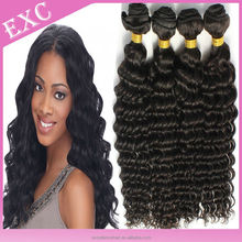 100% Unprocessed short indian remy deep wave hair weave 7a grade virgin hair indain hair