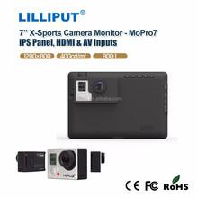 "LILLIPUT 7"" Go Pro X-treme sports camera monitor with 1280*800 high resolution"