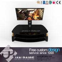 Metal lcd tv stand black lcd tv stand high end glass modern lcd tv stand
