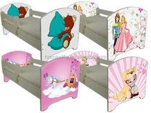 Kid cama de madera cama de modelos de dibujos animados cama del niño