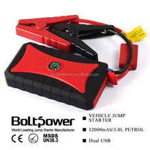 upower waterproof 12v mini snap on jump starter with 4 usb output and compass