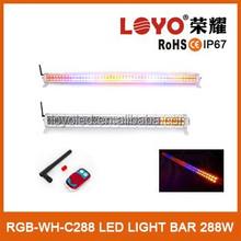 50 inch super bright strobe led light bar for most vehicles 288w white/black flash led light bar