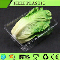 Disposable clear plastic vegetable/fruit tray/container