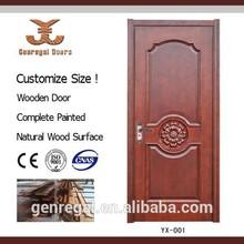 Estilo de país sola hoja residencial puertas de madera
