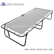 Cheap space saving furniture single traveler metal frame folding twin guest bed design in home beds