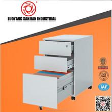 hot sell Light Gray Office 3 drawers metal mobile pedestal