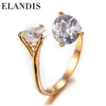 E-ELANDIS fashion jewelry wholesale diamond ring silver zircon wedding ring