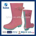mate de moda niños la mitad botas de agua de color rosa precioso botas de lluvia para las niñas