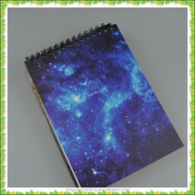 High quality custom sketch book for student with galaxy picture