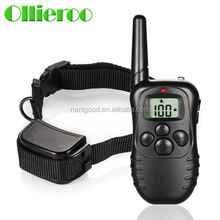 Rechargeable FCC Certified multifunction luminous dog electronic shock training collar