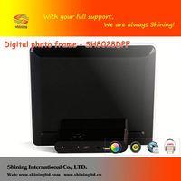 "SH8028DPF back ground play digital photo frame 8"""