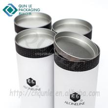 Decorative custom printed empty tea box paper cardboard tubes round carton box tea packaging