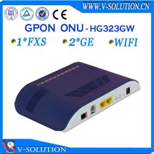 Fiber optical network ftth gpon wireless 2GE onu modem compatible with Huawei/ZTE/BDCOM OLT