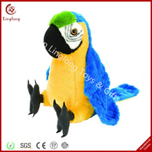customized stuffed birds 10 inches cute plush parrot bird with embroidery and several colors can choose