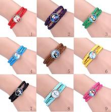 New Product Fashion Frozen magnetic bracelet, elsa leather charm bracelet,hot new products for 2015