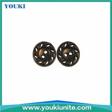 Fashion Plastic Shirt Buttons with ABS material in brass color